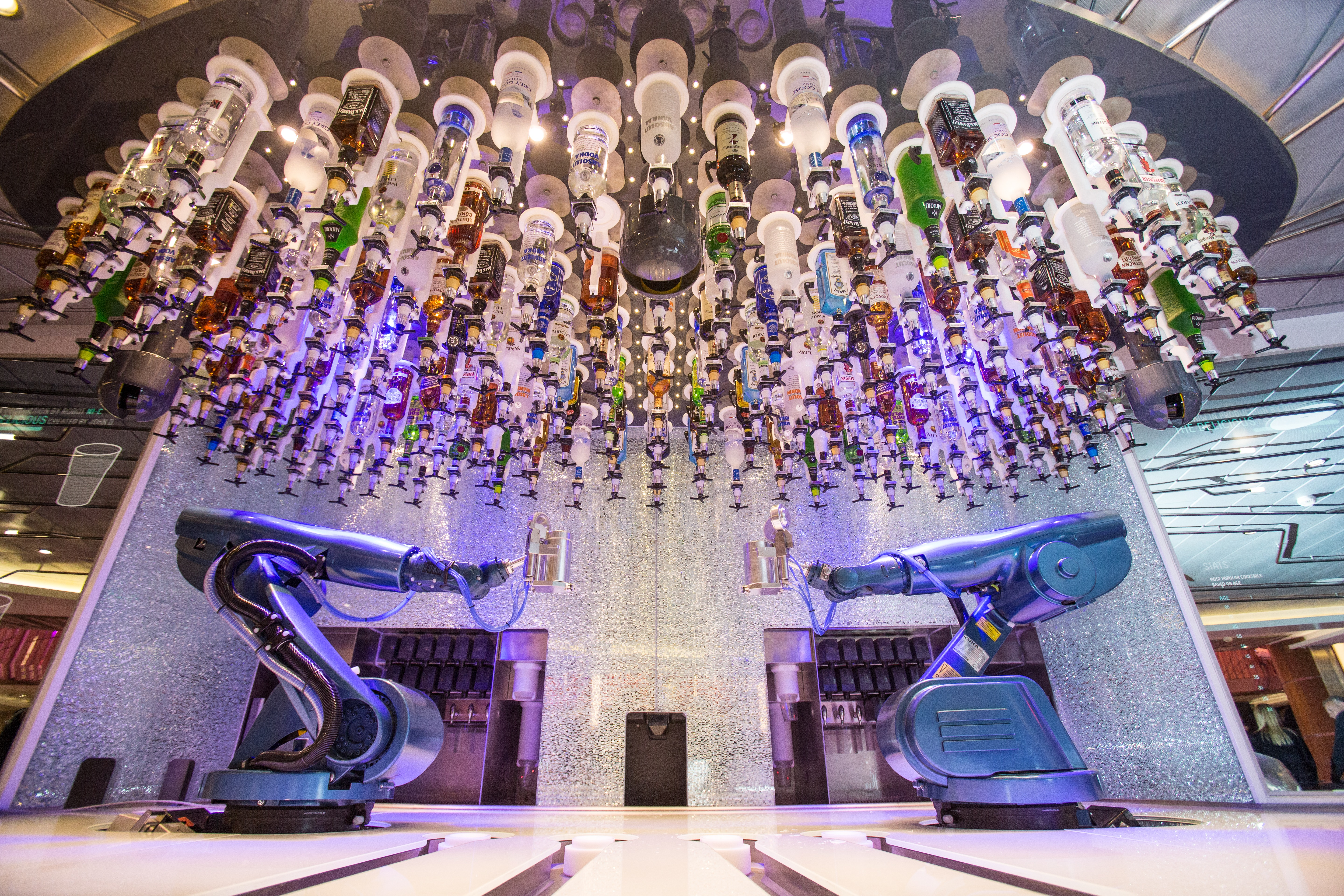 Royal Caribbean International launches Quantum of the Seas, the newest ship in the fleet, in November 2014. Bionic Bar, powered by Makr Shakr.